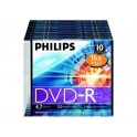 PHILIPS DVD-R 4.7GB 16X SLIM CASE*10 DM4S6S10F/00
