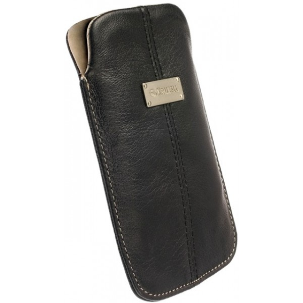 ba6d1bd1bc4 KRUSELL 95211 LUNA LEATHER MOBILE POUCH BLACK L i-PHONE 4G/4S ...