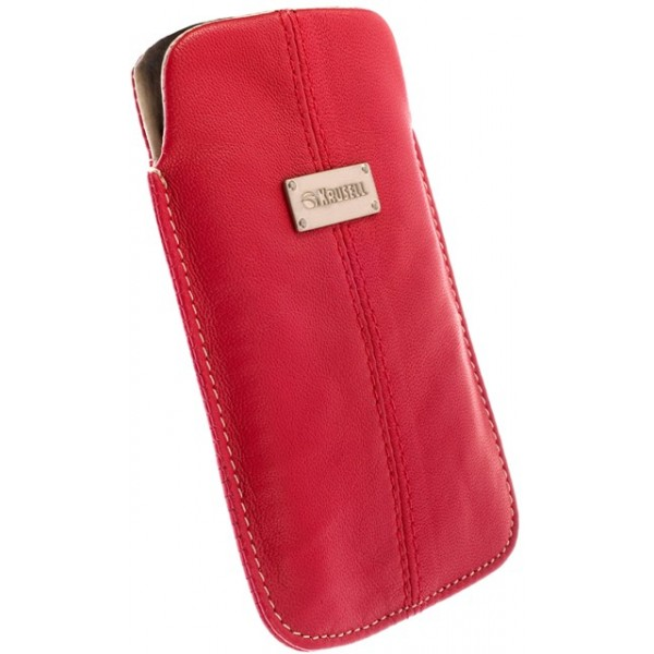 f0c48a18c07 KRUSELL 95213 LUNA LEATHER MOBILE POUCH RED L i-PHONE 4G/4S ...