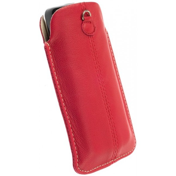 6ccdbbba634 ... KRUSELL 95213 LUNA LEATHER MOBILE POUCH RED L i-PHONE 4G/4S