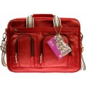 KRUSELL 71108 BREEZE LEATHER LAPTOP BAG 15.4'' RED