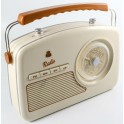 GPO RYDELL ANALOGUE RADIO FM-AM-LW-SW CREAM & BROWN