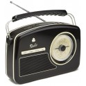 GPO RYDELL DIGITAL RADIO FM-DAB BLACK & CREAM