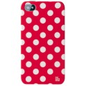 PAT SAYS NOW 4082 RED POLKA DOT CLIP ON CASE iPHONE 4/4S