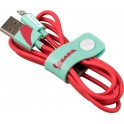 VESPA CABLE USB A - MFI LIGHTNING APPLE ACQUAMARINA 1.20m