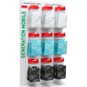 GOLLA  G-2028  WALL DISPLAY SMALL CASES 9 HOOKS