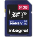 INTEGRAL SDHX 64.0GB C10 100/10MB ΚΑΡΤΑ ΜΝΗΜΗΣ