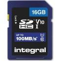 INTEGRAL SDHC 16.0GB C10 100/10MB ΚΑΡΤΑ ΜΝΗΜΗΣ