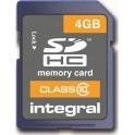 INTEGRAL SDHC 4 GB CLASS 10/20MB ΚΑΡΤΑ ΜΝΗΜΗΣ