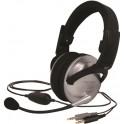 KOSS SB49 MULTIMEDIA STEREO HEADPHONES & MIC & VOLUME BLACK