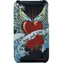GLAMROX IPGR-C1-HRT1-DB CLIP ON CASE iPHONE 3G/3GS HEART