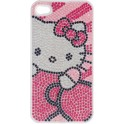 HELLO KITTY IPHK-C3-BLG1-4S-DB CLIP ON CASE iPHONE 4/4S BLING