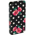ACCESSORIZE IPAC-C1-PDOT-4S-DB CLIP ON CASE POLKA DOT iPHONE 4/4S