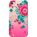 ACCESSORIZE IPAC-C1-PFLW-4S-DB CLIP ON CASE iPHONE 4/4S PINK FLOWER