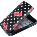 ACCESSORIZE IPAC-FL-PDOT-4S-DB FLIP CASE iPHONE 4/4S POLKA DOT