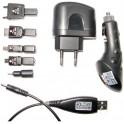 2GO 794111 USB CHARGER AC(110-240V)+DC(12-24V) 6 MOBILE TIPS BLACK