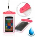 GLOW WATERPROOF CASE MOBILE 5.8'' BULK PINK