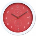 PLATINET PZSRC SUMMER WALL CLOCK-TEMP-HYGRO RED