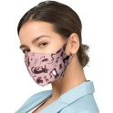PROFILED ADULT COTTON FACE MASK BLACK CATS