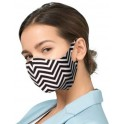 PROFILED ADULT COTTON FACE MASK ZIGZAG