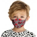 PROFILED KIDS 8-12 COTTON FACE MASK RED CARS