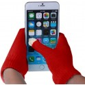 GLOVES FOR TOUCH SCREENS RED