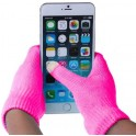 GLOVES FOR TOUCH SCREENS PINK