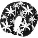 SUNDAZE NECK PILLOW PALM TREE BLACK