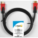 HEITECH 09001401 ΚΑΛΩΔΙΟ HDMI A-A WITH ETHERNET 1.440p GOLD BULK 1.5m