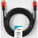 HEITECH 09001405 ΚΑΛΩΔΙΟ HDMI A-A WITH ETHERNET 1.440p GOLD BULK 10.0m