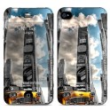 i-PAINT HARD CASE+SKIN NY TAXI i-PHONE 4G/4S