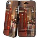 i-PAINT HARD CASE+SKIN LONDON PAINTING i-PHONE 5/5S