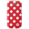 PAT SAYS NOW 4228 POLKA DOT RED CLIP ON CASE SAMSUNG S3 I-9300