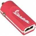 VESPA BUDDY CAR CHARGER 12/24V 1xUSB 2.4A BERRY