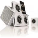 BOYNQ 6019-WH WAKE UP i-POD SPEAKER-RADIO-CLOCK WHITE