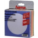 HAMA 51090 CD ROM COLOUR PAPER SLEEVES 100pcs