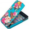 ACCESSORIZE IPAC-FL-BRSE-4S-DB FLIP CASE iPHONE 4/4S BLUE ROSES