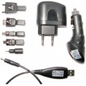 2GO 794111 USB CHARGER AC(110-240V)+DC(12-24V) 6 MOBILE TIPS BLACK