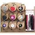 LIIX WOODEN DISPLAY 9 HOOKS FOR BELLS & HOOK FOR SADDLES