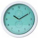 PLATINET PZSGC SUMMER WALL CLOCK-TEMP-HYGRO GREEN
