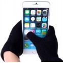 GLOVES FOR TOUCH SCREENS BLACK