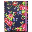 "ACCESSORIZE UTAC-C3-NVYROSE-8 TABLET BOOK CASE NAVY ROSE 8""+ i-PAD MINI 1/2/3/4"