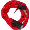 LIIX SMALL LOCK 60cm 2 KEYS LEVEL 3/10 POLKA DOTS RED