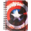 NOTEBOOK A5 90 PAGES BULLET CTFBA50022 MARVEL CAPTAIN AMERICA