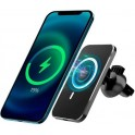 4-OK CAR HOLDER WIRELESS CHARGER MAGHOL QI MAGNETIC IPHONE 12 SERIES BLACK